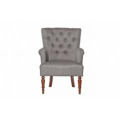 Кресло серо-бежевое