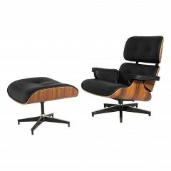 кресло Eames Lounge с оттоманкой