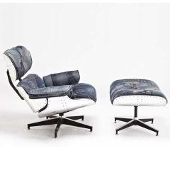 кресло Eames Lounge Aviator с оттоманкой